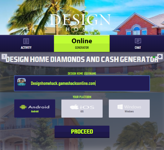 Design Home Hack Online Get Free Diamonds And Cash